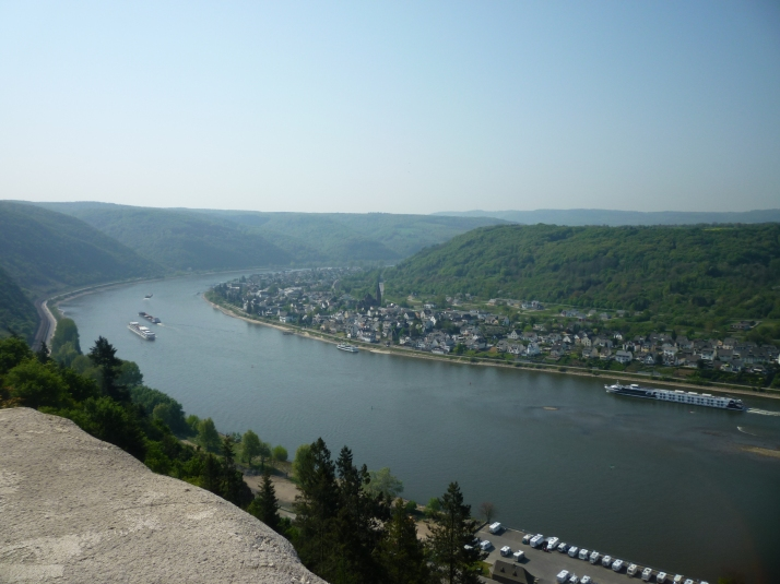El Rin desde los torreones de Marksburg