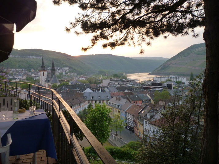 Bingen desde la terraza de Burg Klopp