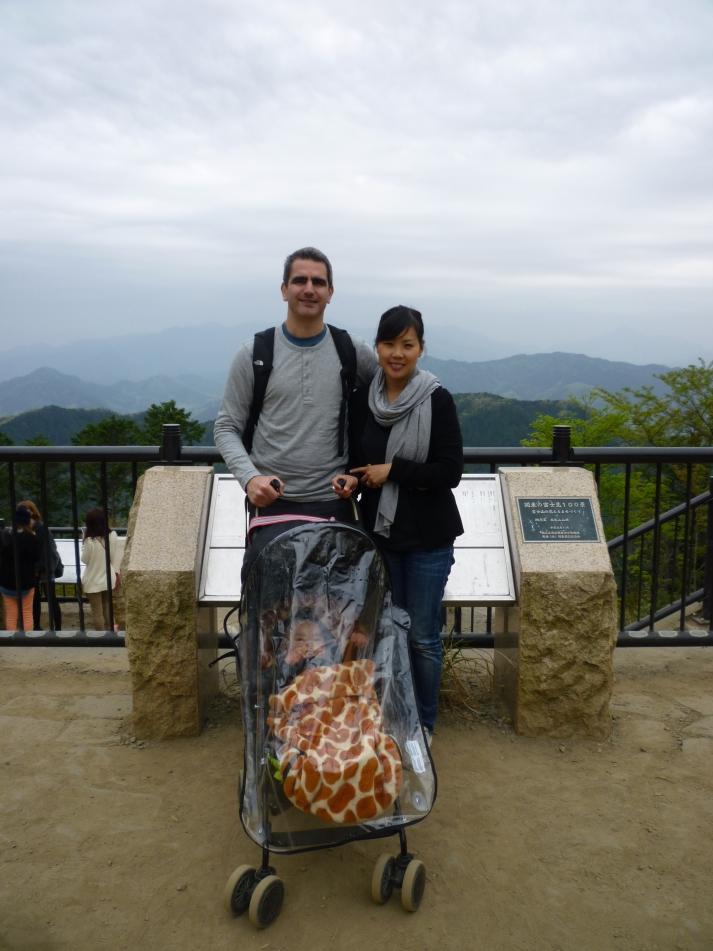 En la cumbre del Monte Takao