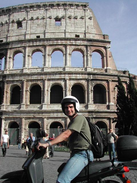 Roma en moto, una gozada