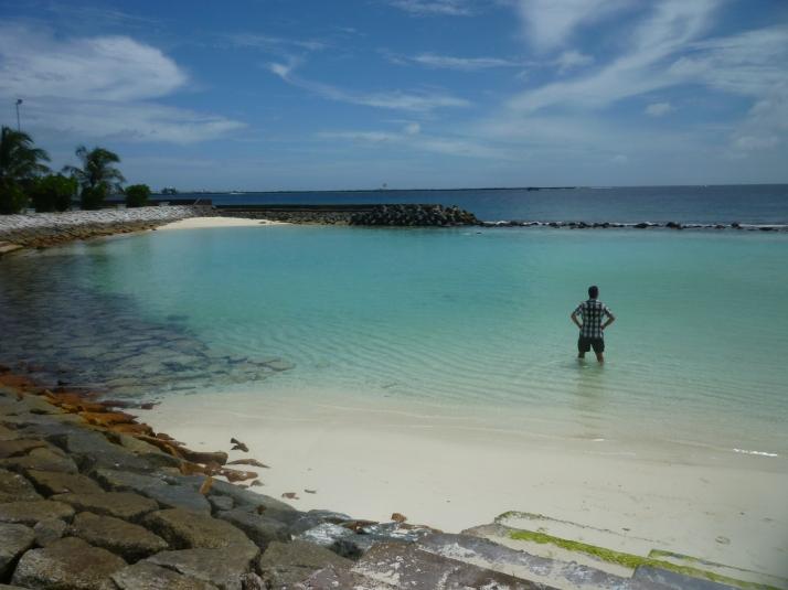 La playa artificial de Malé