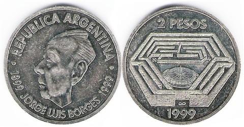 argentina 2 pesos Borges