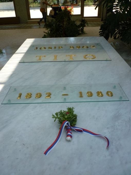 Detalle de la tumba de Tito