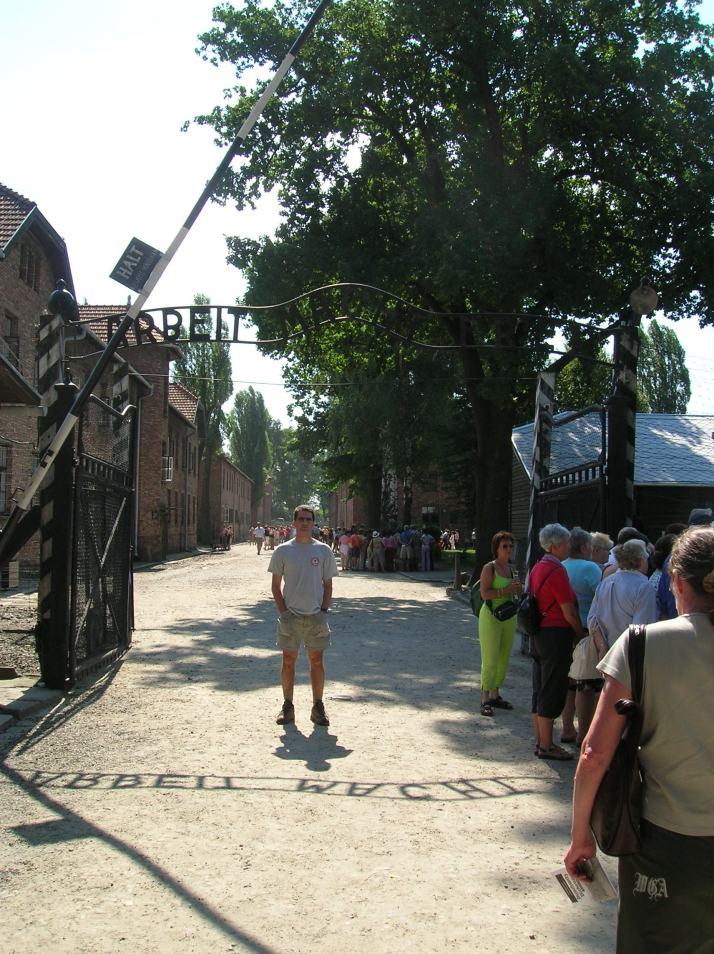 La entrada a Auschwitz I