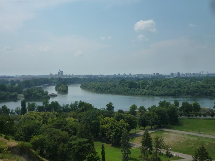 La confluencia del Sava y el Danubio