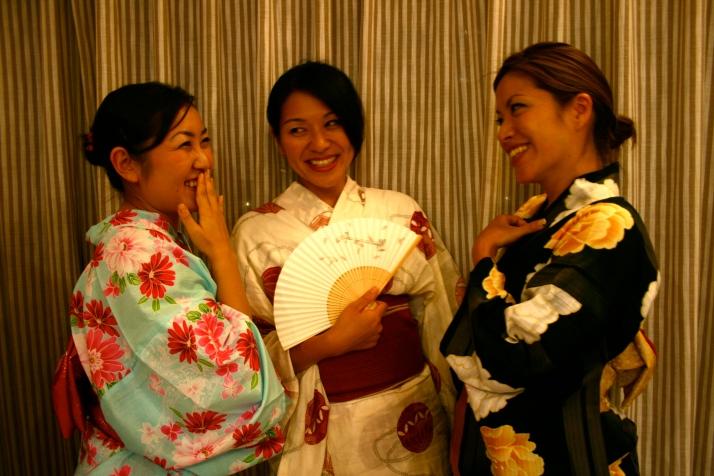 De izq a der: Ikue, Yukiko y Rye