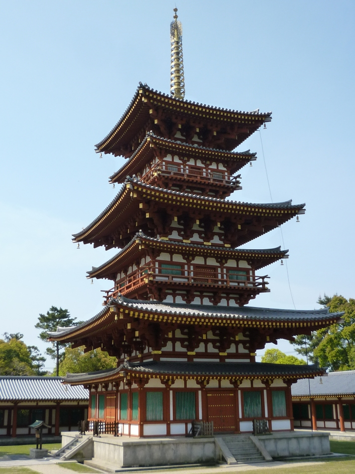 Una de las pagodas de Yakushi-ji