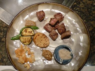 Ternera de Kobe estilo teppanyaki