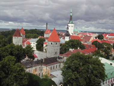 Vista de Tallinn desde Toompea, 2004
