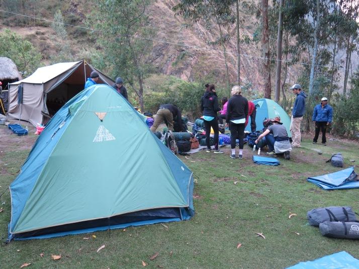 Campamento en Wayllabamba