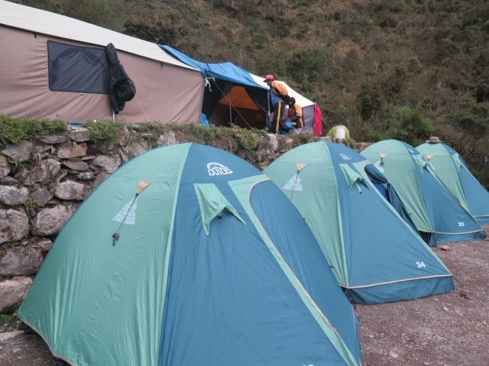 El campamento en Pacamayo